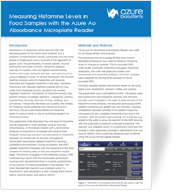Application Note: Measuring Histamine Levels in Food