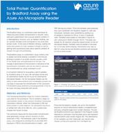Application Note: Total Protein Quantification by Bradford