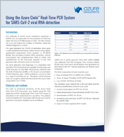 App Note-Using the Cielo for SARS-CoV-2 viral RNA detection